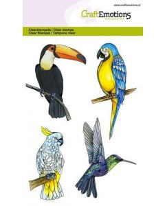 Craft Emotions clearstamps tropical birds