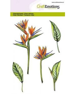 Craft Emotions clearstamps flower birds of paradise
