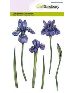 Craft Emotions clearstamps flower iris
