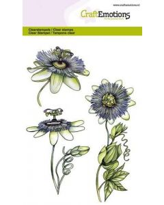 Craft Emotions clearstamps passion flower