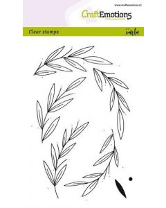 Craft Emotions clearstamps leaf wreath christmas