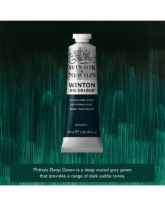 Winton olieverf 37ml - 048 phthalo deep green