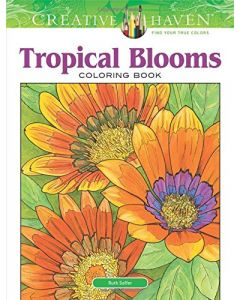 Kleurboek, tropical blooms, Creative Haven