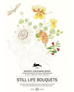 Still life bouquets, Artists Colouring book 180 gr