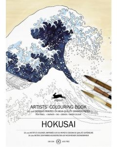 Hokusai, Artists' colouring book 180 gr