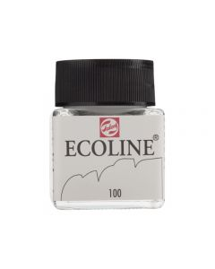 Ecoline 30ml 100 wit op = op