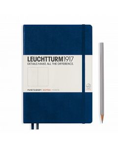 Leuchtturm1917 medium dotted navy blue
