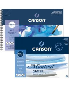 Canson montval 10,5 x 15,5 300gr ring