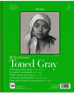 Strathmore 400 series toned gray 22.9 x 30.5 50 vel