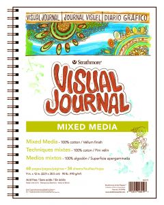 Strathmore 500 series visual journal mixed media 22.9 x 30.5